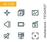 music outline icons set.... | Shutterstock .eps vector #737242927