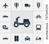 transportation icons set.... | Shutterstock .eps vector #737244154