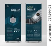 business roll up design... | Shutterstock .eps vector #737244475