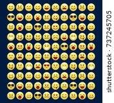 set of smile icons. emoji....   Shutterstock .eps vector #737245705