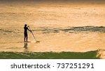 paddle boarding laguna bay... | Shutterstock . vector #737251291