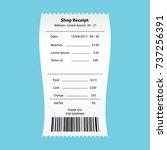 watches receipt printed  paper... | Shutterstock .eps vector #737256391