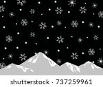 snow crystal background | Shutterstock .eps vector #737259961