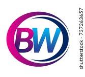 initial letter logo bw company... | Shutterstock .eps vector #737263657