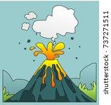 volcanic eruption vector | Shutterstock .eps vector #737271511