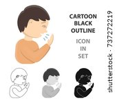 cough icon cartoon. single sick ...   Shutterstock .eps vector #737272219