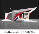 exhibition stand modern design... | Shutterstock . vector #737282965