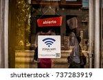 havana july 2015  cubans begin... | Shutterstock . vector #737283919