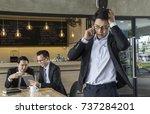 young business man calling... | Shutterstock . vector #737284201