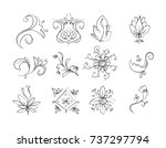 floral ornament | Shutterstock .eps vector #737297794