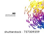 abstract colorful swirl shape... | Shutterstock .eps vector #737309359