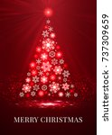 merry christmas tree made from...   Shutterstock .eps vector #737309659