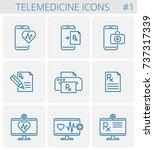 medicine  telemedicine vector... | Shutterstock .eps vector #737317339