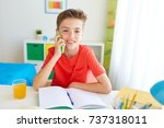 education  technology and... | Shutterstock . vector #737318011