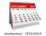 2017 year calendar. december...   Shutterstock . vector #737319319