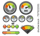 vector credit score gauge icon... | Shutterstock .eps vector #737322331