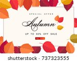 autumn sale background template.... | Shutterstock .eps vector #737323555