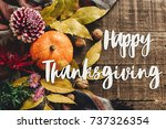 Happy Thanksgiving Text Sign O...