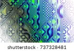 abstract digital fractal... | Shutterstock . vector #737328481
