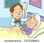 illustration of a priest... | Shutterstock .eps vector #737328841