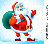 christmas background. santa... | Shutterstock . vector #737329147