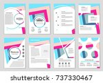 abstract vector layout... | Shutterstock .eps vector #737330467