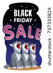 black friday sale banner with... | Shutterstock .eps vector #737333824