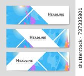 abstract vector layout... | Shutterstock .eps vector #737335801