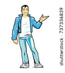 men  guy | Shutterstock .eps vector #737336839
