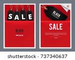 black friday poster  flyer set. ...   Shutterstock .eps vector #737340637