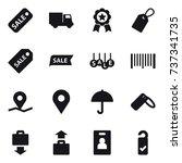 16 vector icon set   sale ... | Shutterstock .eps vector #737341735