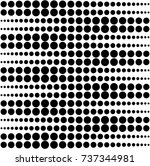 vector pattern design  seamless ... | Shutterstock .eps vector #737344981
