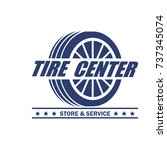tyre   tire logo  emblems and... | Shutterstock .eps vector #737345074