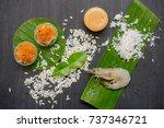 ancient thai dessert  thai...   Shutterstock . vector #737346721