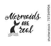 mermaids are real.... | Shutterstock .eps vector #737349904