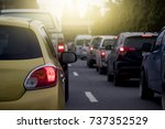 rear of the car on the road... | Shutterstock . vector #737352529