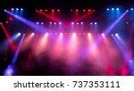 lighting equipment on an empty... | Shutterstock . vector #737353111