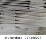 paper bag stacked | Shutterstock . vector #737355037