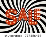 sale message with shining light ... | Shutterstock .eps vector #737356489