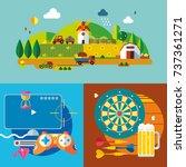 modern flat design conceptual... | Shutterstock .eps vector #737361271