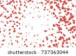 light red vector lovely... | Shutterstock .eps vector #737363044