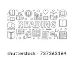 reading books horizontal banner ... | Shutterstock .eps vector #737363164