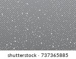 realistic falling snow on... | Shutterstock .eps vector #737365885