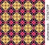 Checkered Fabric Texture Print...