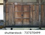 korean traditional windows and... | Shutterstock . vector #737370499