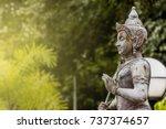 vishnu is the god of hinduism... | Shutterstock . vector #737374657