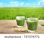 Glasses Of Juice And Wheat...
