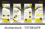 roll up banner stand template... | Shutterstock .eps vector #737381659