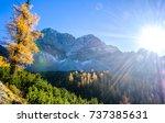 karwendel mountains in austria  ...   Shutterstock . vector #737385631