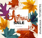 abstract sale illustration.... | Shutterstock .eps vector #737385781